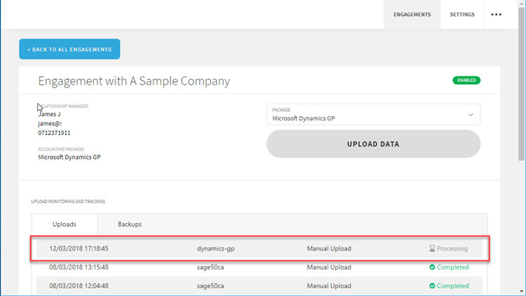 Uploading your Microsoft Dynamics GP data – Validis